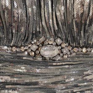 Sherri Hill Dresses - Sherri Hill Silver Sequin Short Dress Size 8
